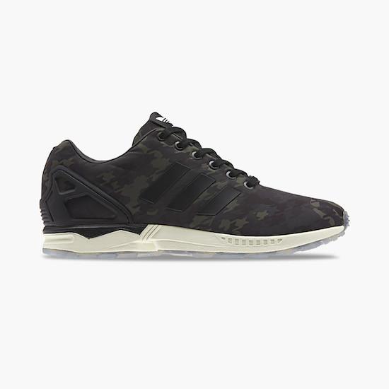 baskets adidas zx flux camo navy black white